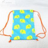 象プリント水泳のドローストリング袋
