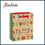 印刷の札が付いている紫外線贅沢なクリスマスデザインギフトの紙袋