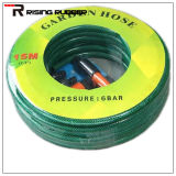 Manguito de jardín flexible del agua del PVC del manguito trenzado de la fibra del PVC