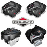 """18は"""" Briggs&Strattonエンジンを搭載する芝刈機を手で押す"""