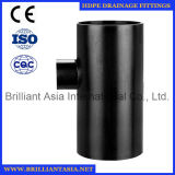 HDPE T-Stück, das Typen HDPE Entwässerung-passendes Wasser-Rohrfitting 88.5 den Grad HDPE Druckdose-Entwässerung-Rohrfitting-T befestigt
