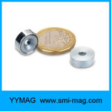 M5ねじのためのさら穴を開けられた穴が付いているYyaの鍋のNdFeBの磁石