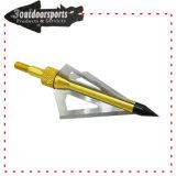 Tête jaune Broadhead de tir à l'arc de lames de la couleur 3fixed pour l'arbre de flèche
