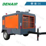 Compresor de aire rotatorio portable diesel minero del tornillo