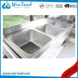 Bassin commercial de lavage de cuisine d'acier inoxydable pour le restaurant