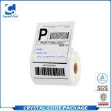 Escritura de la etiqueta termal de la etiqueta engomada del envío 4*6inch para la caja