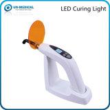 LED dental que cura la luz con fuente de luz azul y blanca