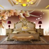 Carta da parati floreale graziosa della decorazione della parete di buona qualità bella per la stanza della base