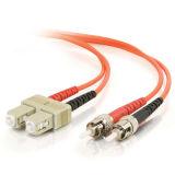 Померанцовый Sc-St кабель волокна дуплекса Om2 мультимодный LSZH разъема 50/125 оптический