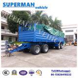 4 Aanhangwagen van de Vrachtwagen van de Draaischijf van het Vervoer van de Lading van de as de Volledige Semi