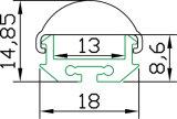 Profili montati di superficie dell'alluminio di Hh-P039-60 LED