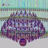 Candelabro de cristal do projeto K9 do hotel para a decoração