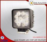 luz del trabajo de 27W Pi68 2400lm 10-30V LED para el carro 4X4
