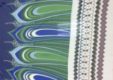 Шелковистая напечатанная Georgette ткань шарфа Fabric& одежды