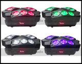 Lumière mobile de la tête 9PCS 10W d'araignée légère du DJ mini