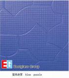 파란 수수께끼 장식무늬가 든 유리 제품
