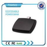 Mini banco descartável One-Time Emergency da potência do banco 1000mAh da potência