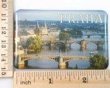 Regalo Recuerdo-Promocional del imán del refrigerador del papel de imprenta de la insignia de Praga