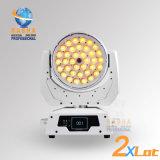 Surtidor de la luz de la etapa de Rasha para la luz principal móvil de la colada de la alta calidad 4in1 RGBW/RGBA 36*10W LED con la función con Powercon, iluminación del zoom de DMX LED
