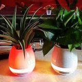 Crisoles de flor del altavoz del rectángulo de música del tacto de Bluetooth de la interacción de la planta