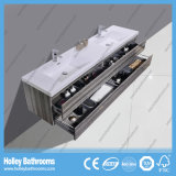 علبيّة درجة غرفة حمّام تفاهة مع 2 حوض /LED مرآة و4 ساحب ([بف327د])