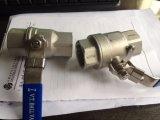 vávula de bola roscada del acero inoxidable 2PC Pn63 DIN3202-M3