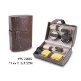 Kit del Brillo del Zapato de la PU de la Buena Calidad, Conjunto de la Limpieza del Zapato, Brown y Combinación de Color Rojo