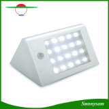 La lumière extérieure IP65 d'énergie solaire de l'éclairage 350lm 20 DEL imperméabilisent la lumière fixée au mur de lampe de jardin de degré de sécurité de détecteur de mouvement de PIR