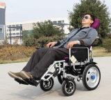 Silla de rueda de Mentira-Abajo eléctrica/sillón de ruedas eléctrico con el buen motor