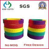 Bracelet bon marché de silicium de logo de Custom Printed Company