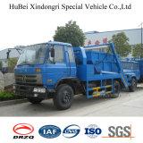 carro del transporte de la basura del brazo del oscilación del euro 3 de 13cbm Dongfeng con Cummins Engine