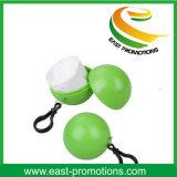 100%のKeychainのDegradableプラスチックポンチョのレインコートの球