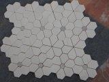 Mosaico di marmo bianco di Carrara del mosaico del fiore di prezzi di fabbrica