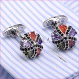 Il Rhinestone eccellente della CZ di qualità di VAGULA Cuffs i gemelli di cristallo 381 di collegamenti di polsino di Gemelos