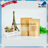 Saco Ziplock da folha de alumínio de papel de embalagem de Lj1-214 Para o saco do presente/embalagem do chá/doces/jóia/pão