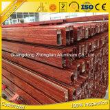 China de aluminio de extrusión fabricantes OEM de la fuente de aluminio hueco de perfil con colores de madera