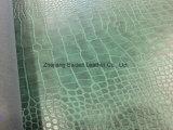 Leer van katoenen het Imitatiepvc van het Fluweel voor Dame Bag/Bank/Meubilair met het Ontwerp van de Krokodil