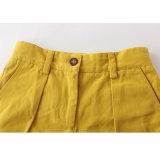 Form-Well-Fitting gelbe Baumwollmädchen-kurze Hosen für Sommer