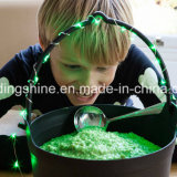 ホーム休日のクリスマスの装飾のために作動する緑の銅ストリング豆電球電池AA