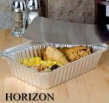 Recipiente de folha de alumínio quadrado doméstico para armazenamento de alimentos