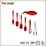 Utensilios coloridos de la cocina del silicón de los productos de China fijados