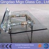 Vlak Gebogen Decoratief Gehard Aangemaakt Glas voor de Bouw, Meubilair, de Deur van de Douche
