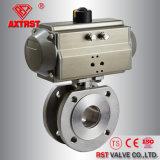 1PC служило фланцем нержавеющий шариковый клапан вафли с ISO5211 (PN16/40)