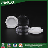 vaso cosmetico di plastica portatile di mini disegno unico 2g con il coperchio
