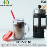 20oz kundenspezifische Plastikwasser-Flasche, doppel-wandiges Plastikmaurer-Glas mit Griff (HDP-0018)
