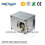 Máquina de estaca do laser da cabeça de varredura de Digitas Jd1403 da abertura do feixe do peso leve 9mm