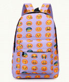 Saco da trouxa da escola do saco da trouxa do lazer dos desenhos animados de Emoji