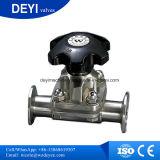 Мембранный клапан Tri-Струбцины руки AISI 316L T-Shaped с уплотнением EPDM