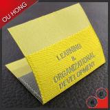 Ярлык цвета типа способа глянцеватой дешевой сплетенный тканью для одежды