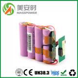 2016 горячих батарея иона сбывания 12V 18650 перезаряжаемые Li